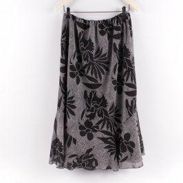 Dámská sukně dlouhá černo-bílá