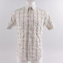 Pánská košile Topaz bílá kostkovaná