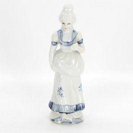 Porcelánová figurka dámy v šatech 19 cm