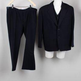 Pánský oblek s vestou tmavě modrý