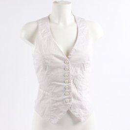 Dámská společenská vesta H&M bílá