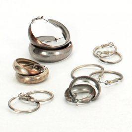 Dámské náušnice: Kruhy - 6 párů