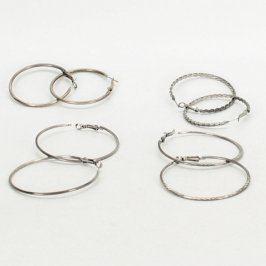 Dámské náušnice: Kruhy - 4 páry