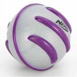 Plastový míč NERF šedo fialový