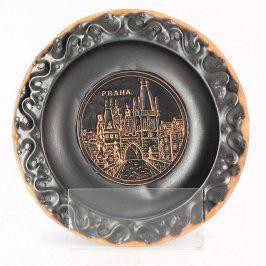 Ozdobný talíř s motivem Prahy
