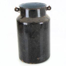Smaltovaná konvice na mléko černá