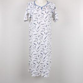 Dámská košile Jitex bílá s modrými květy