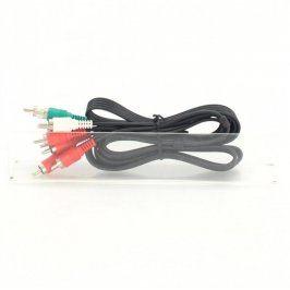 Propojovací kabel 5x Cinch M černý 150 cm