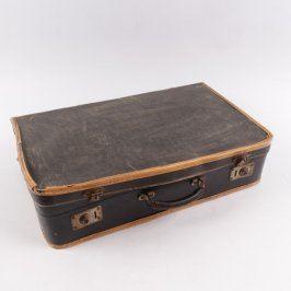 Dobový olemovaný prošitý kufřík