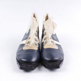 Běžkařské boty Botas modré s bílým pruhem