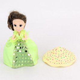 Malá panenka v zelených šatičkách