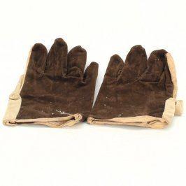 Ochranné pracovní rukavice ze světlé kůže