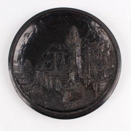 Plastický obrázek Maják černý