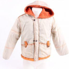 Dětská bunda Fosxy bílá s oranžovými prvky