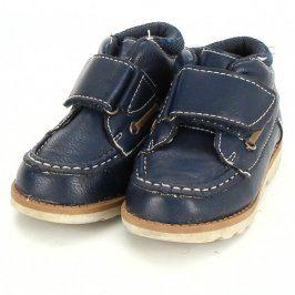 Dětské polobotky modré na suchý zip