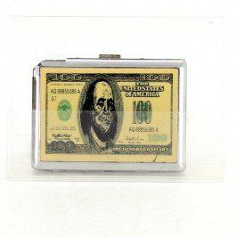 Tabatěrka kovová s motivem bankovky