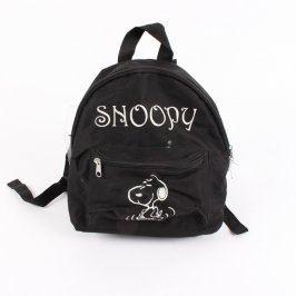 Dětský batoh Snoopy černý