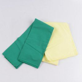 Látka žluté a zelené barvy