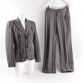 Dámský kostým s kalhotami Bianca šedý