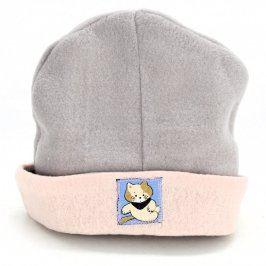 Dětská čepice Emka baby šedo růžová