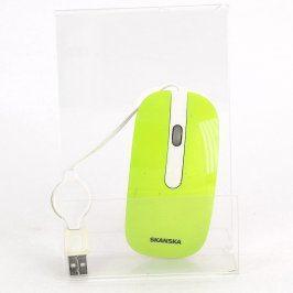 Optická myš Skanska TEC211V zelená