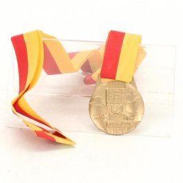 Medaile MVČSTV Praha Přeborník '90 zlatá