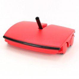 Mechanický smeták červené barvy