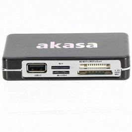 Čtečka paměťových karet Akasa AK-HC02-BK