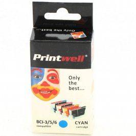 Inkoustová cartridge Printwell Cyan