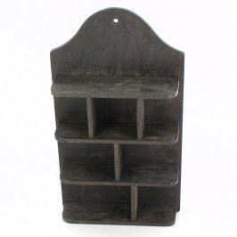 Dřevěná polička na miniatury