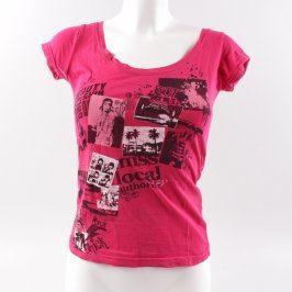 Dámské tričko Tally Weijl červené s potiskem