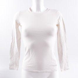 Dámské tričko bílé s dlouhým rukávem