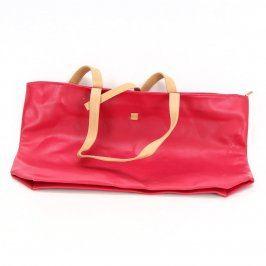Dámská kabelka červená s béžovými uchy