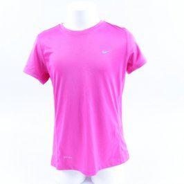 Dětské tričko Nike Dri-Fit růžové neonové