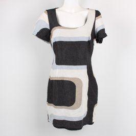 Dámské šaty George bíločerné vzorované