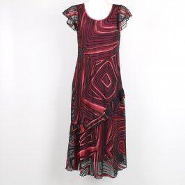 Dámské dlouhé šaty černorůžové