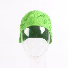 Gumová plavecká čepice zelená
