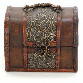 Dřevěná šperkovnice s uchem