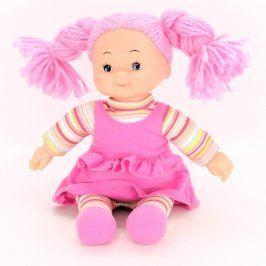 Panenka s růžovými vlásky a šatičkami