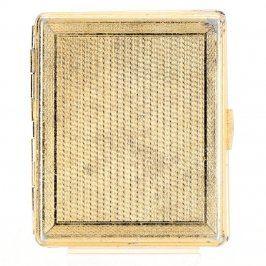 Tabatěrka stříbrno zlaté barvy