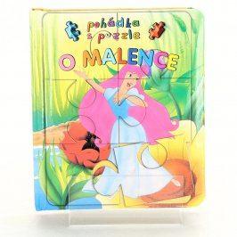 Dětská knížka O Malence pohádka s puzzle