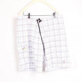 Pánské šortky Big father bílé kostkované