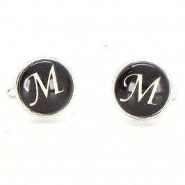 Manžetové knoflíčky s písmenem M