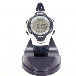 Sportovní hodinky Sport 711-E modro stříbrné