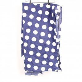 Látka modrá s bílými puntíky 320x90 cm