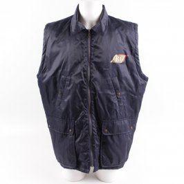 Pánská vesta tmavě modrá s nápisem R1