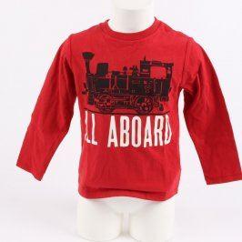 Dětské tričko GAP odstín červené