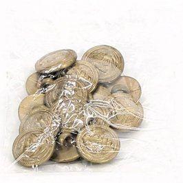 Sada zlatých knoflíků s kotvou