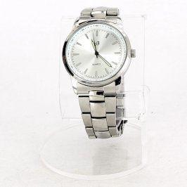Pánské hodinky stříbrné QUARTZ elegantní