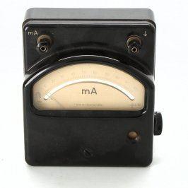 Ampérmetr Metra Blansko černý